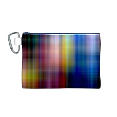 Colorful Abstract Background Canvas Cosmetic Bag (M)