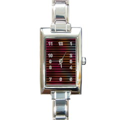 Colorful Venetian Blinds Effect Rectangle Italian Charm Watch