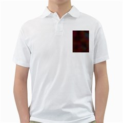 Colorful Venetian Blinds Effect Golf Shirts