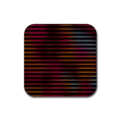 Colorful Venetian Blinds Effect Rubber Square Coaster (4 Pack)