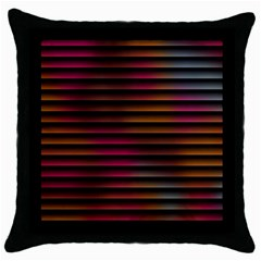 Colorful Venetian Blinds Effect Throw Pillow Case (Black)