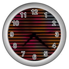 Colorful Venetian Blinds Effect Wall Clocks (Silver)
