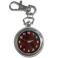 Colorful Venetian Blinds Effect Key Chain Watches