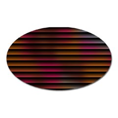 Colorful Venetian Blinds Effect Oval Magnet