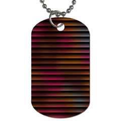 Colorful Venetian Blinds Effect Dog Tag (One Side)