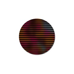 Colorful Venetian Blinds Effect Golf Ball Marker (10 Pack)