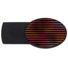 Colorful Venetian Blinds Effect USB Flash Drive Oval (1 GB)