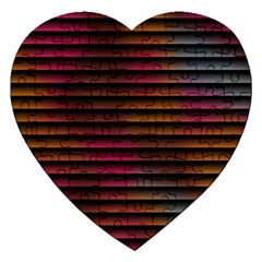 Colorful Venetian Blinds Effect Jigsaw Puzzle (heart)