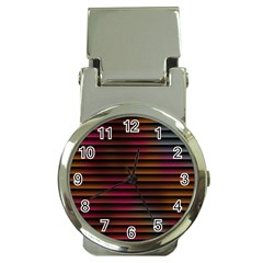 Colorful Venetian Blinds Effect Money Clip Watches