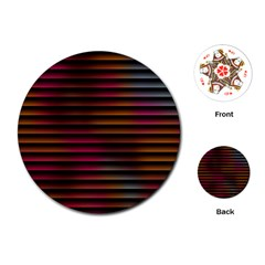 Colorful Venetian Blinds Effect Playing Cards (round)