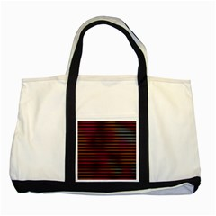 Colorful Venetian Blinds Effect Two Tone Tote Bag