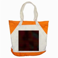 Colorful Venetian Blinds Effect Accent Tote Bag