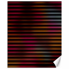 Colorful Venetian Blinds Effect Canvas 11  X 14