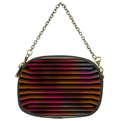 Colorful Venetian Blinds Effect Chain Purses (two Sides)