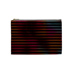Colorful Venetian Blinds Effect Cosmetic Bag (Medium)