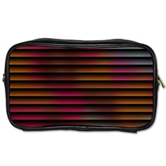 Colorful Venetian Blinds Effect Toiletries Bags 2-Side