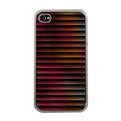 Colorful Venetian Blinds Effect Apple iPhone 4 Case (Clear)