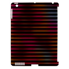 Colorful Venetian Blinds Effect Apple iPad 3/4 Hardshell Case (Compatible with Smart Cover)