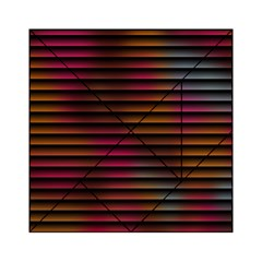 Colorful Venetian Blinds Effect Acrylic Tangram Puzzle (6  x 6 )