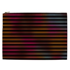 Colorful Venetian Blinds Effect Cosmetic Bag (xxl)