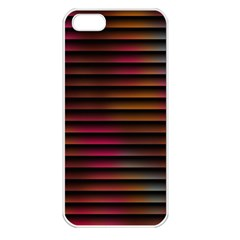 Colorful Venetian Blinds Effect Apple Iphone 5 Seamless Case (white)