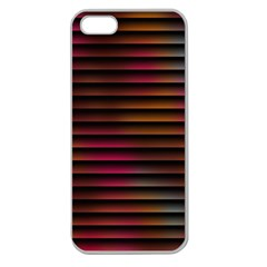 Colorful Venetian Blinds Effect Apple Seamless iPhone 5 Case (Clear)