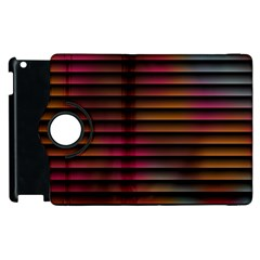 Colorful Venetian Blinds Effect Apple iPad 2 Flip 360 Case