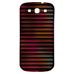 Colorful Venetian Blinds Effect Samsung Galaxy S3 S III Classic Hardshell Back Case
