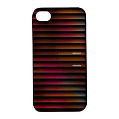 Colorful Venetian Blinds Effect Apple iPhone 4/4S Hardshell Case with Stand