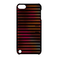 Colorful Venetian Blinds Effect Apple iPod Touch 5 Hardshell Case with Stand