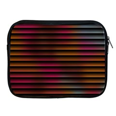 Colorful Venetian Blinds Effect Apple Ipad 2/3/4 Zipper Cases