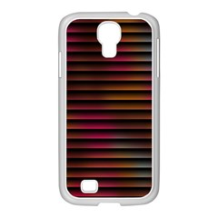 Colorful Venetian Blinds Effect Samsung GALAXY S4 I9500/ I9505 Case (White)