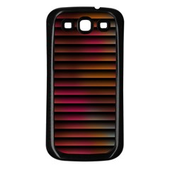 Colorful Venetian Blinds Effect Samsung Galaxy S3 Back Case (Black)
