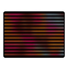 Colorful Venetian Blinds Effect Double Sided Fleece Blanket (Small)