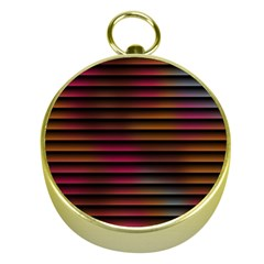 Colorful Venetian Blinds Effect Gold Compasses