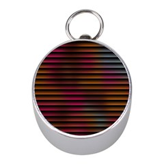 Colorful Venetian Blinds Effect Mini Silver Compasses