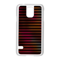 Colorful Venetian Blinds Effect Samsung Galaxy S5 Case (white)