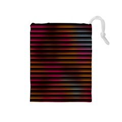 Colorful Venetian Blinds Effect Drawstring Pouches (Medium)