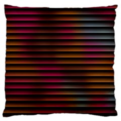 Colorful Venetian Blinds Effect Large Flano Cushion Case (One Side)