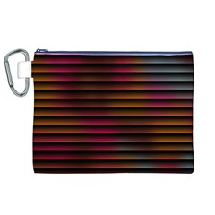 Colorful Venetian Blinds Effect Canvas Cosmetic Bag (XL)