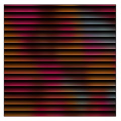 Colorful Venetian Blinds Effect Large Satin Scarf (Square)
