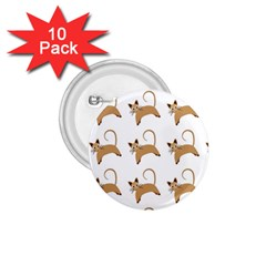 Cute Cats Seamless Wallpaper Background Pattern 1 75  Buttons (10 Pack)