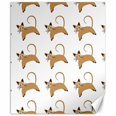 Cute Cats Seamless Wallpaper Background Pattern Canvas 20  X 24