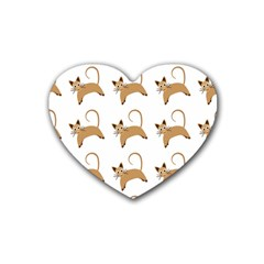 Cute Cats Seamless Wallpaper Background Pattern Heart Coaster (4 Pack)