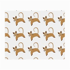 Cute Cats Seamless Wallpaper Background Pattern Small Glasses Cloth (2 Side)