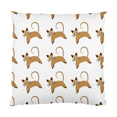 Cute Cats Seamless Wallpaper Background Pattern Standard Cushion Case (One Side)