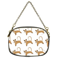Cute Cats Seamless Wallpaper Background Pattern Chain Purses (two Sides)