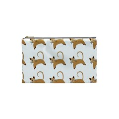 Cute Cats Seamless Wallpaper Background Pattern Cosmetic Bag (Small)