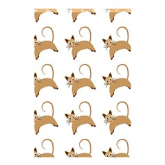 Cute Cats Seamless Wallpaper Background Pattern Shower Curtain 48  X 72  (small)