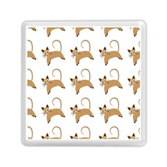 Cute Cats Seamless Wallpaper Background Pattern Memory Card Reader (square)